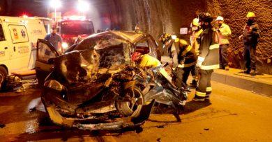 Accidente múltiple se registró en el túnel de Daza. Bomberos atendieron emergencia