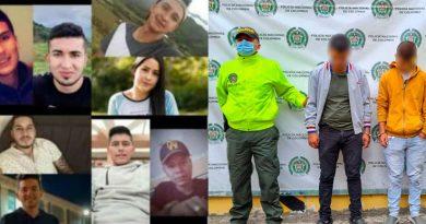 Dijin capturó a 'Fercho y 'Mono' presuntos responsables del crimen de 8 jóvenes en Samaniego