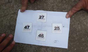 Estas fueron las fichas que entregaron el martes anterior a los 100 faltantes para venderles el gas este 20 de mayo, lo cual nadie llegó.